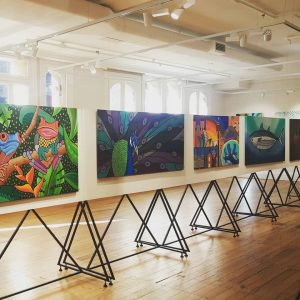 Photo of exhibition of works by Danielle Mate Sullivan